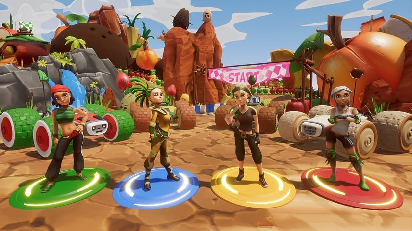 All star fruit racing portfolio game characters
