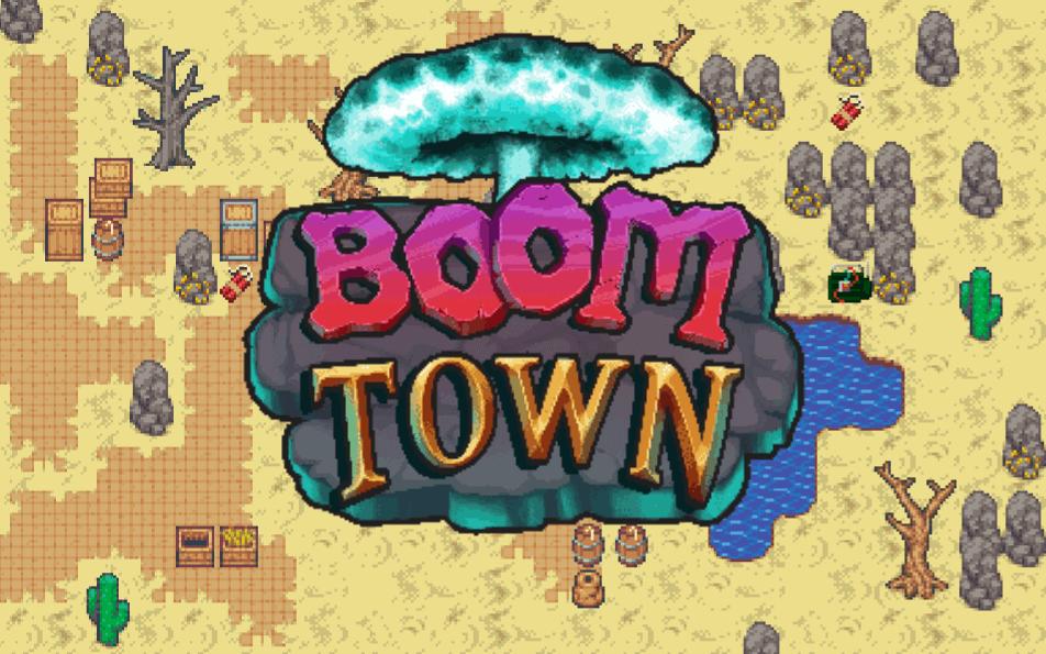 Boom Town game screen game development portfolio