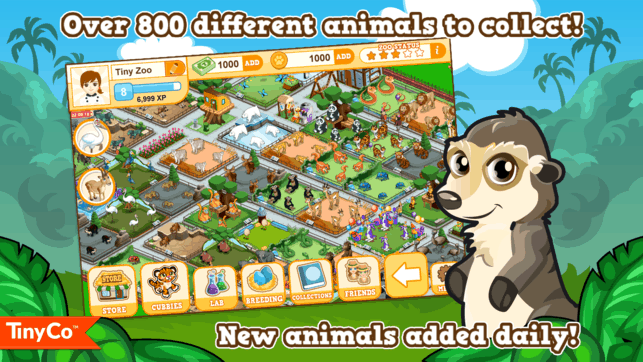 over 800 different animals to collect in our game