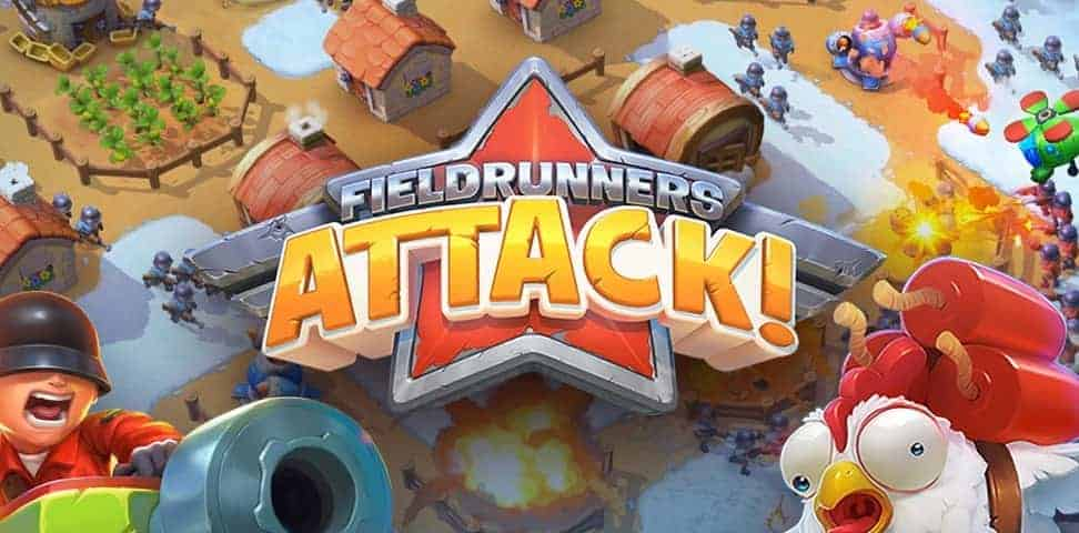 A departure from the usual Tower Defense model, Fieldrunners Attack! is a base building strategy game.