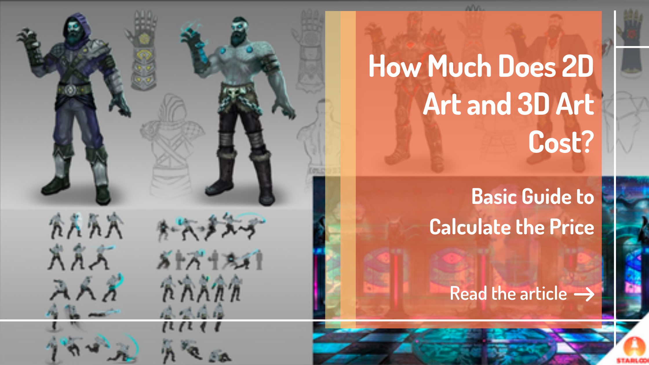 How Much Does 2D Art and 3D Art Cost main banner