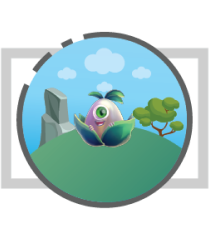 service 2D character animation icon