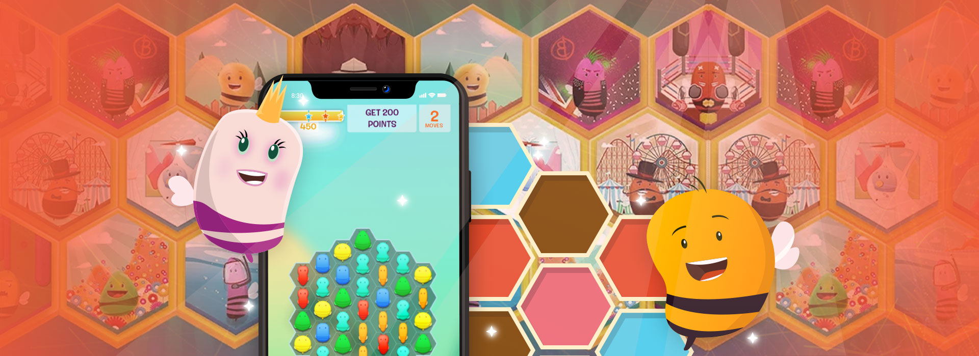 disco bees game points