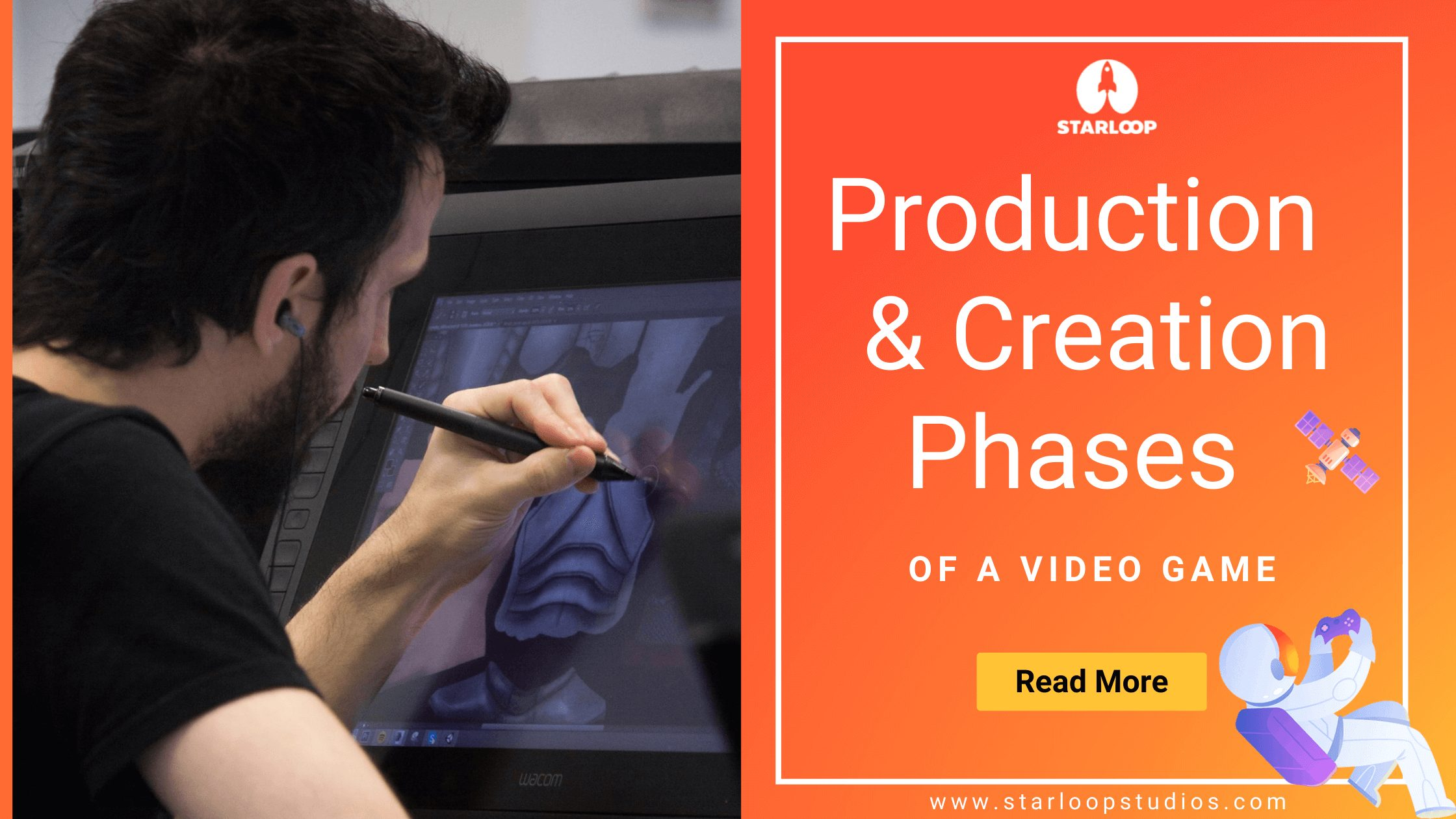 Production & creation phases of a video game
