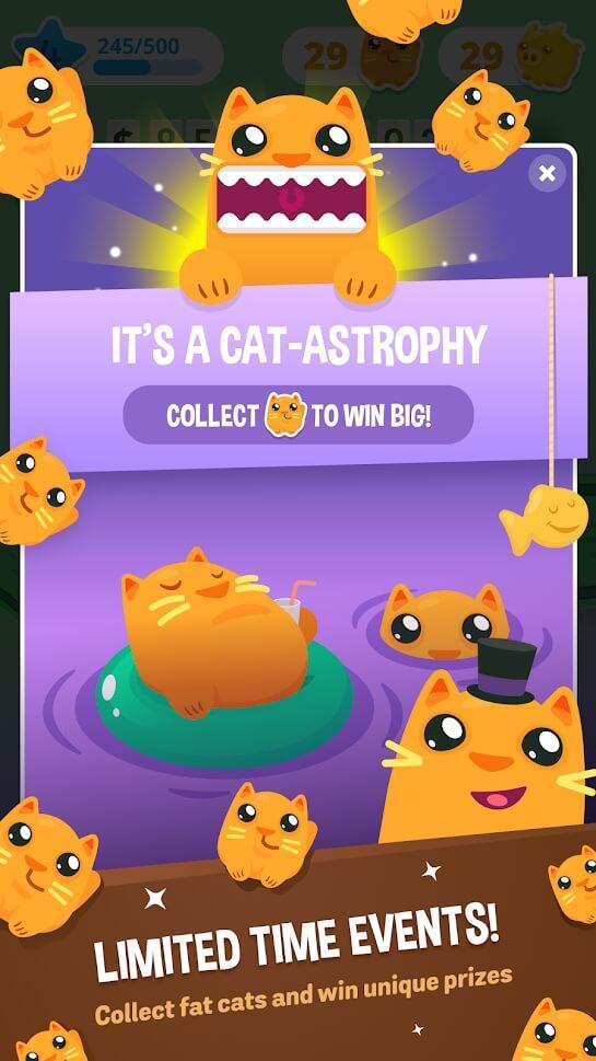 Make it rain collect fat cats game