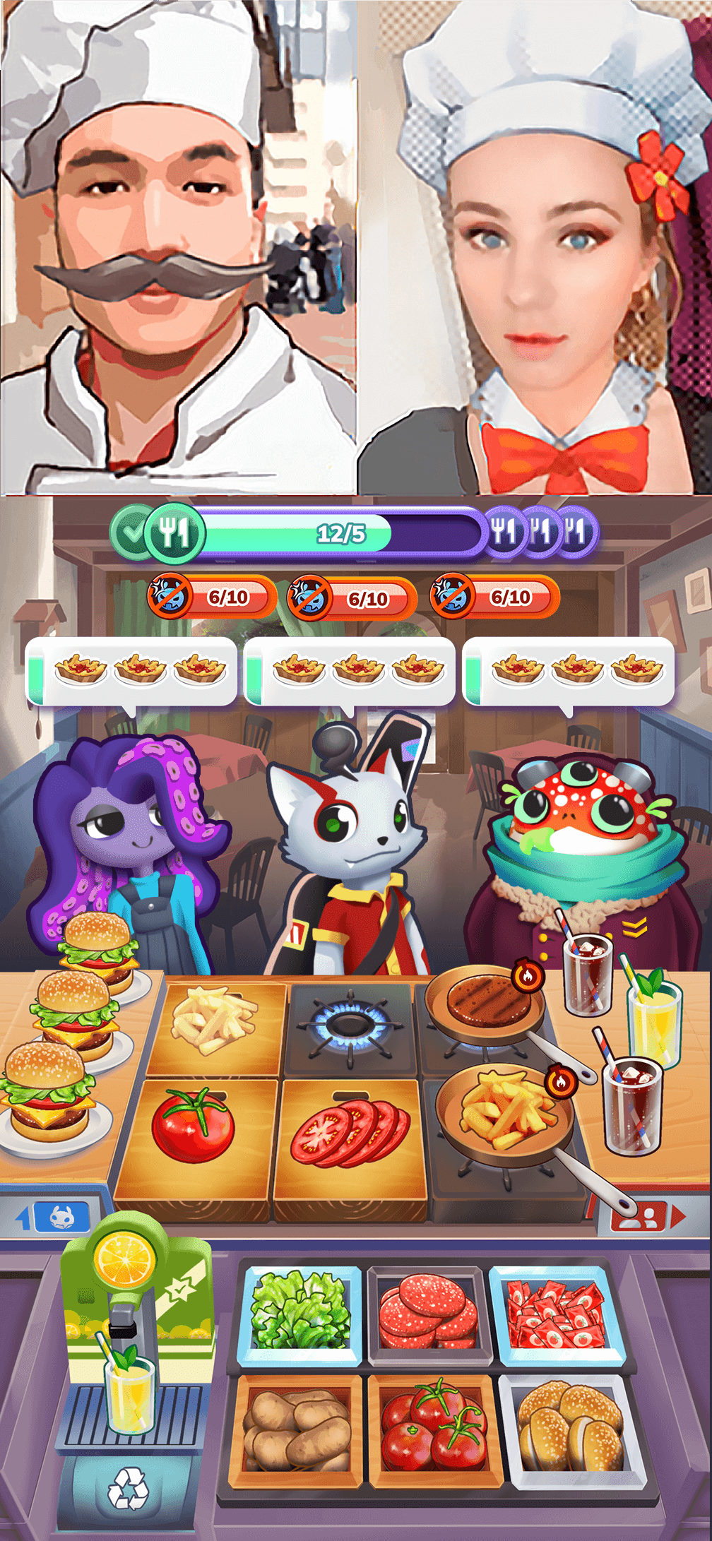 mons chef game memory