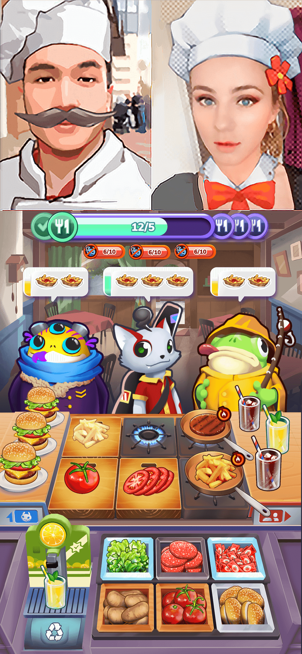 mons chef game cookers