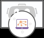 VR Games Social Platforms icon Services