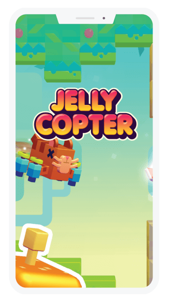 Game for mobile android and ios jelly copter